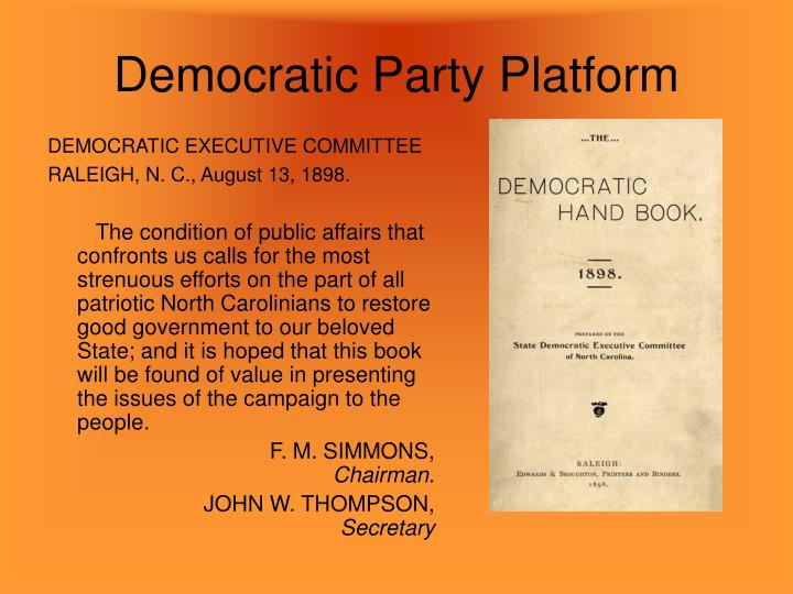 Democratic Party Platform