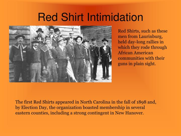 Red Shirt Intimidation