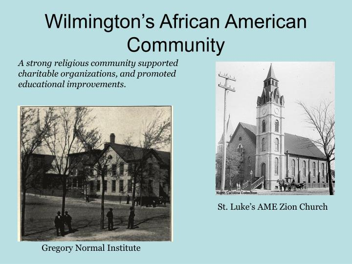 Wilmington's African American Community