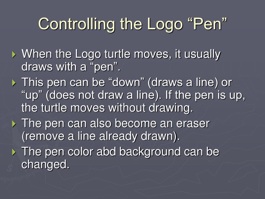 "Controlling the Logo ""Pen"""