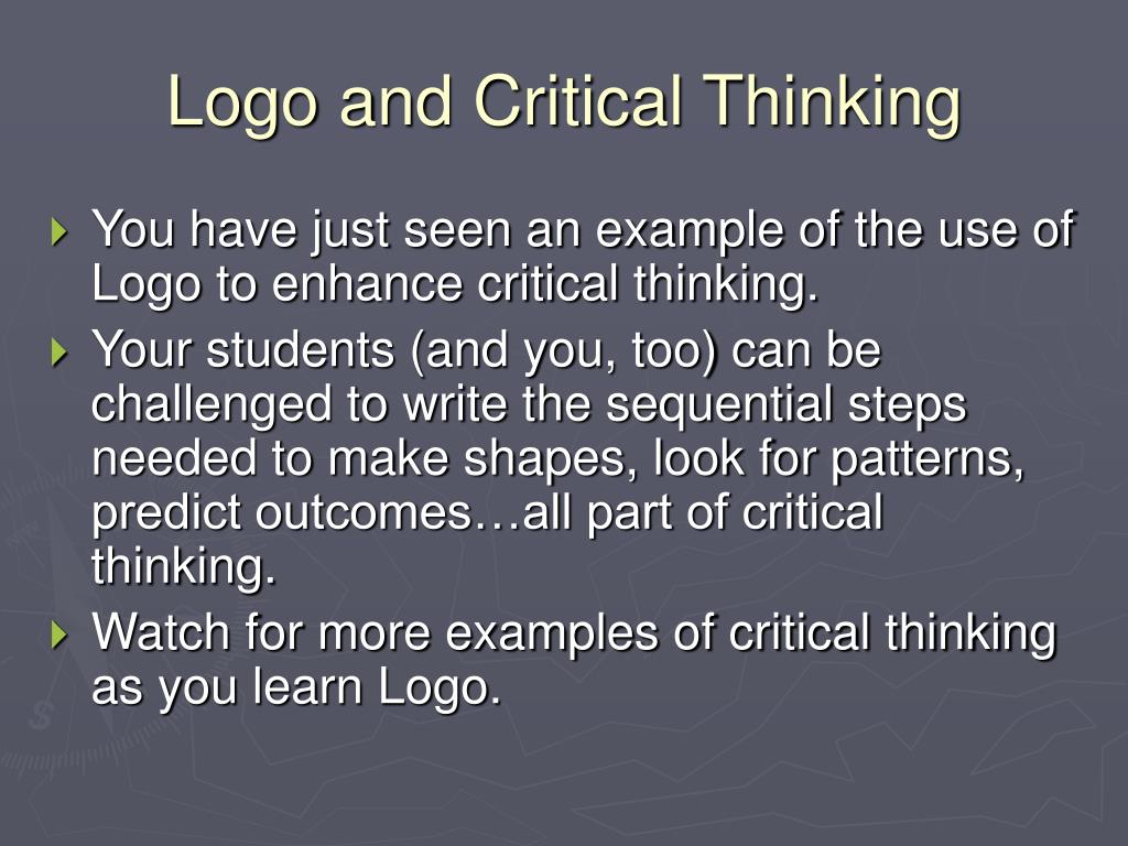 Logo and Critical Thinking