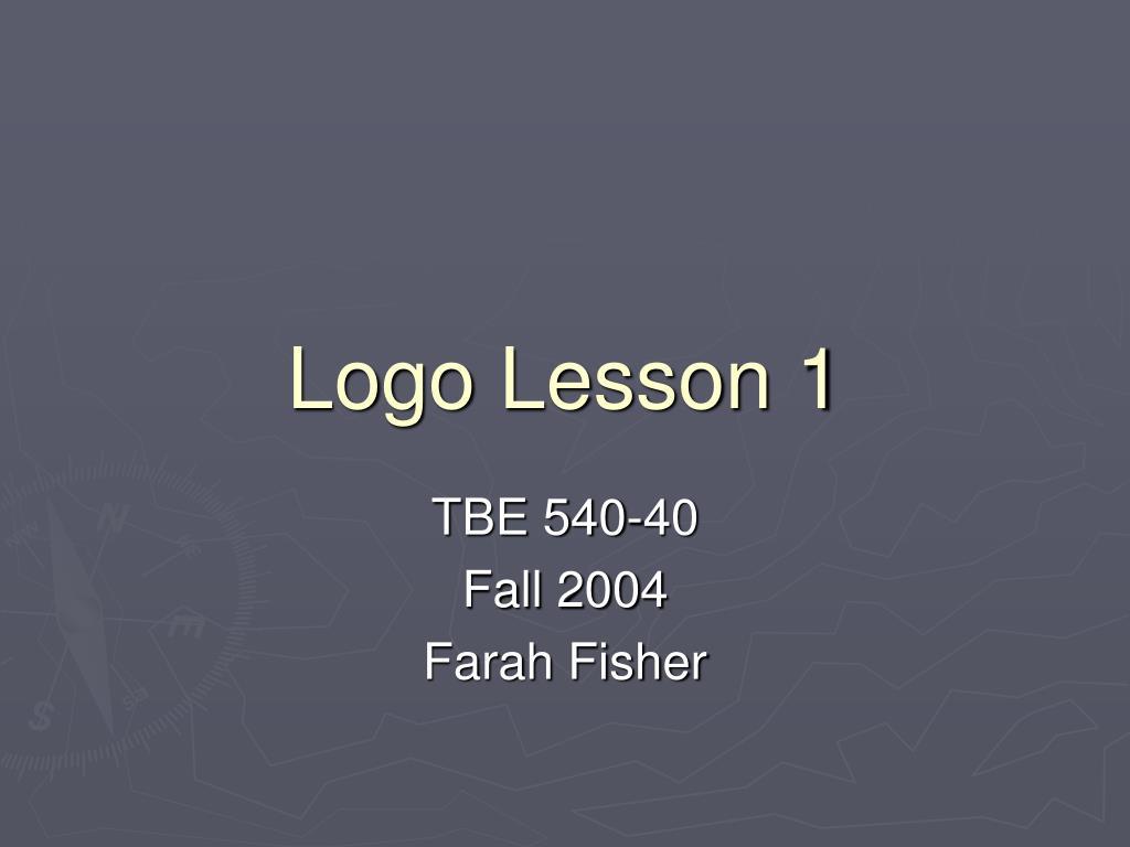 Logo Lesson 1