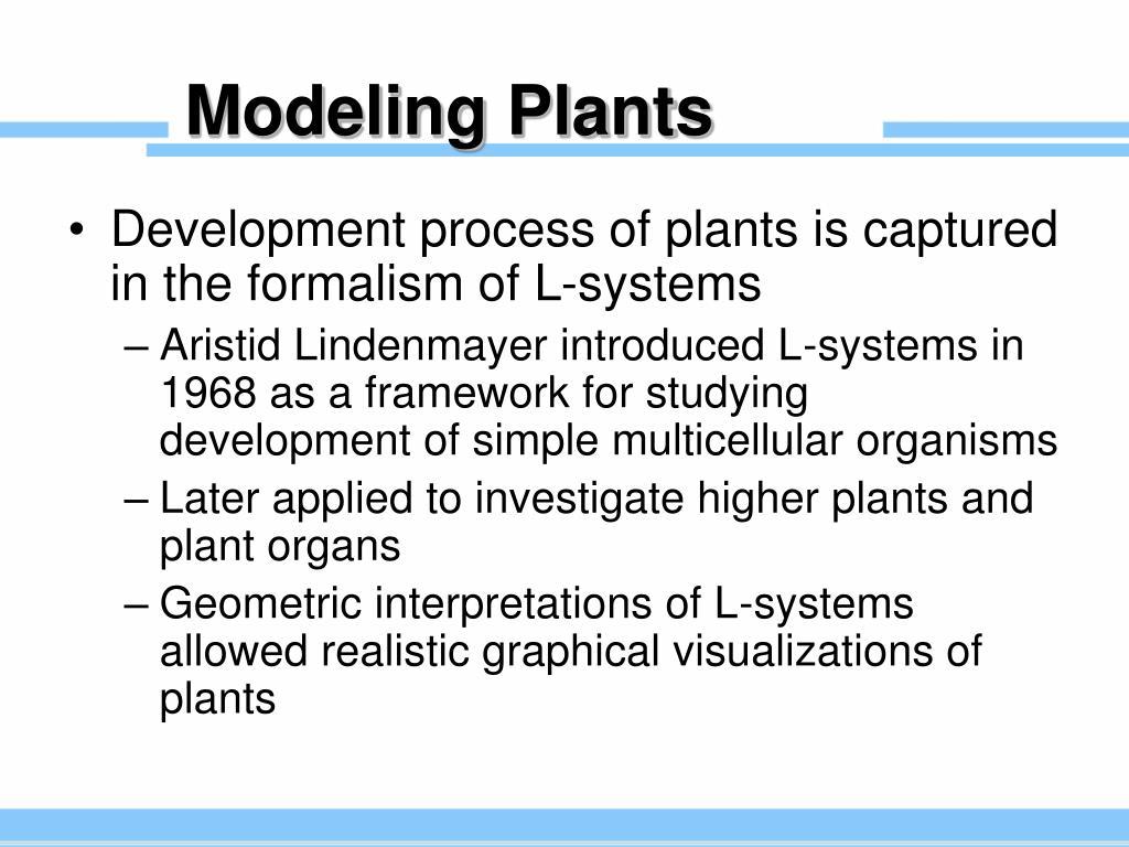 Modeling Plants