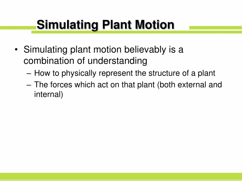 Simulating Plant Motion