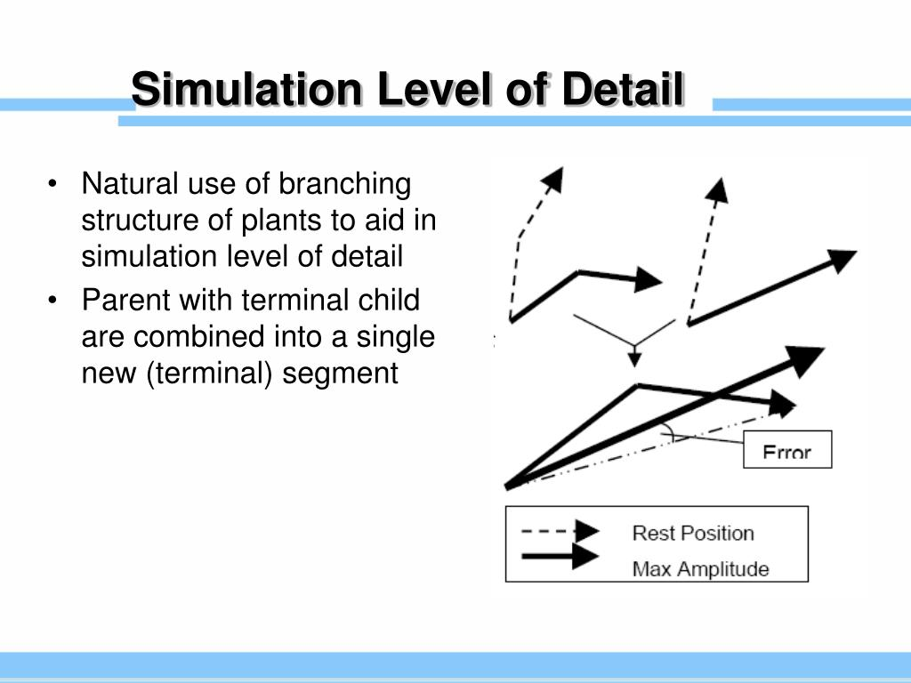 Simulation Level of Detail