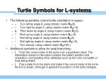 turtle symbols for l systems