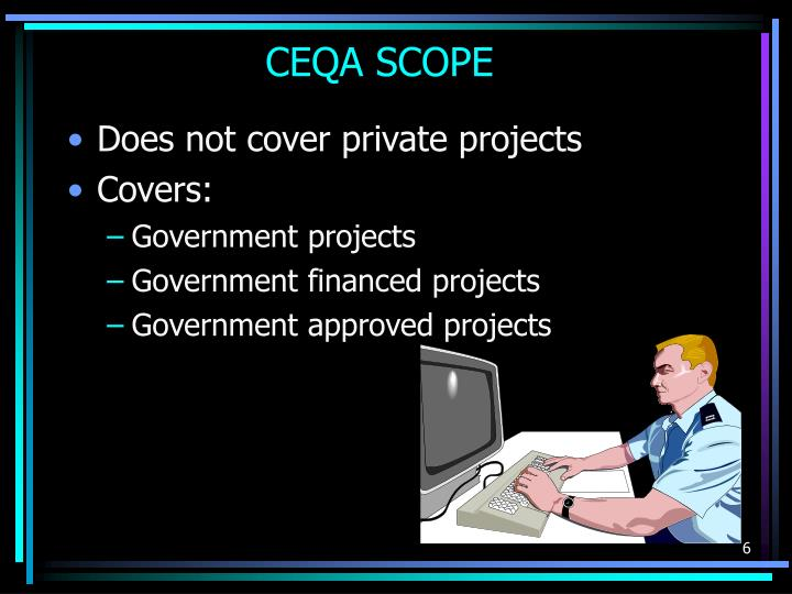 CEQA SCOPE