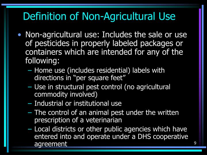 Definition of Non-Agricultural Use