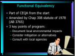 functional equivalency