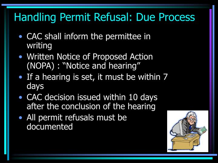 Handling Permit Refusal: Due Process