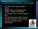 handling permit refusal due process