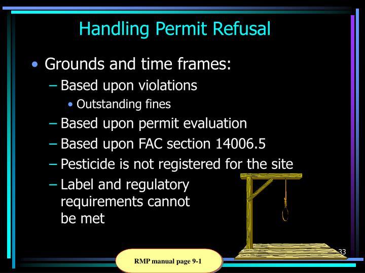 Handling Permit Refusal