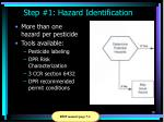 step 1 hazard identification