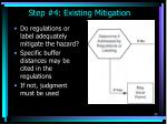 step 4 existing mitigation