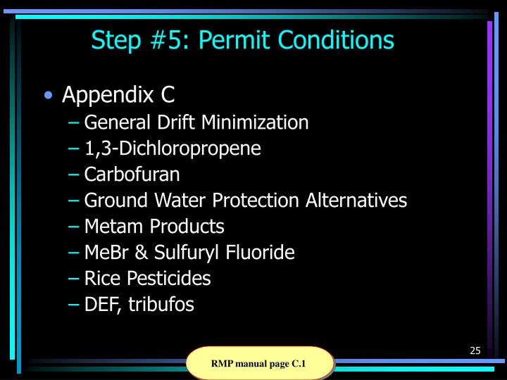 Step #5: Permit Conditions