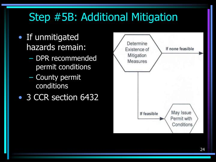 Step #5B: Additional Mitigation