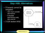 step 6b alternatives