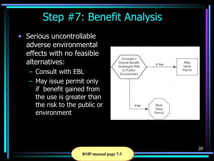 Step #7: Benefit Analysis