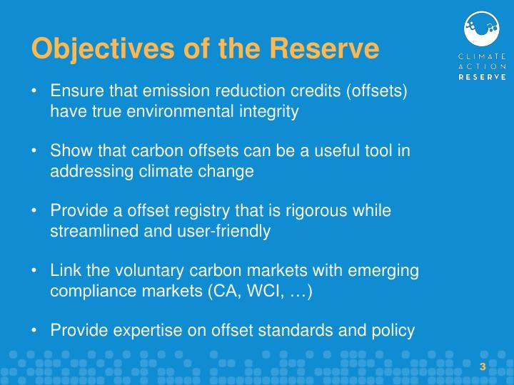 Objectives of the reserve