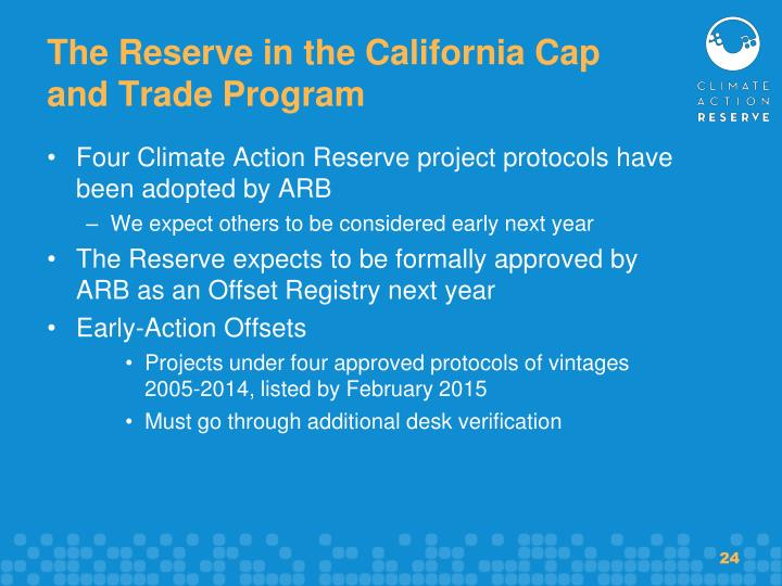 The Reserve in the California Cap and Trade Program