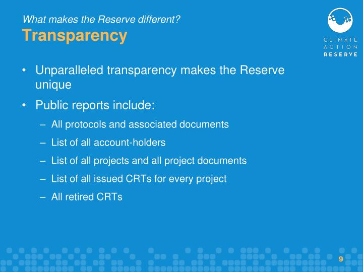 What makes the Reserve different?