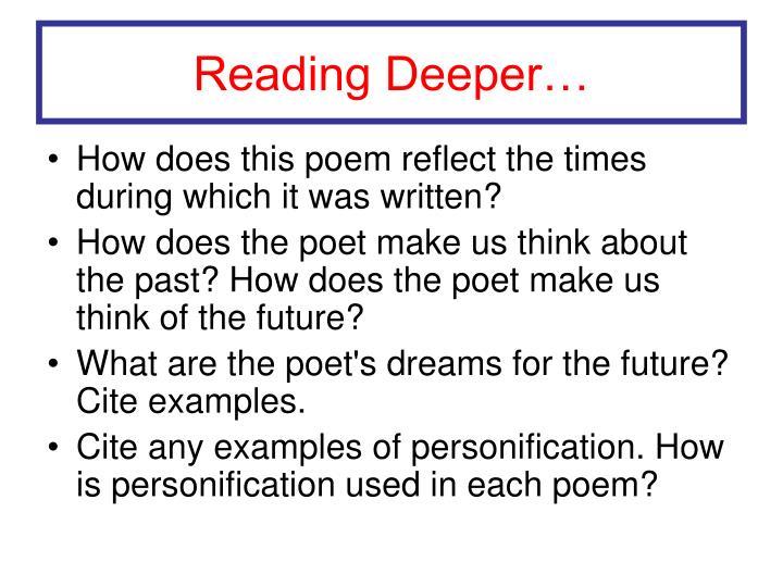 Reading Deeper…