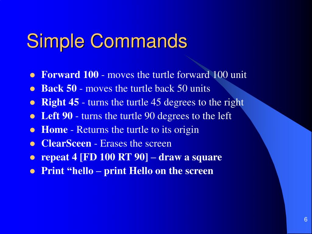 Simple Commands