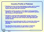 country profile of pakistan