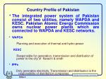 country profile of pakistan1