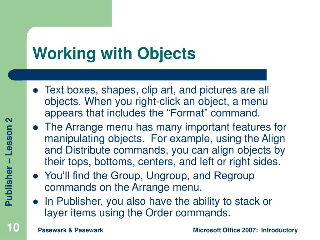 Working with Objects