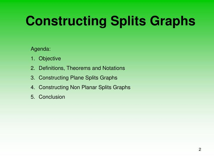 Constructing splits graphs2