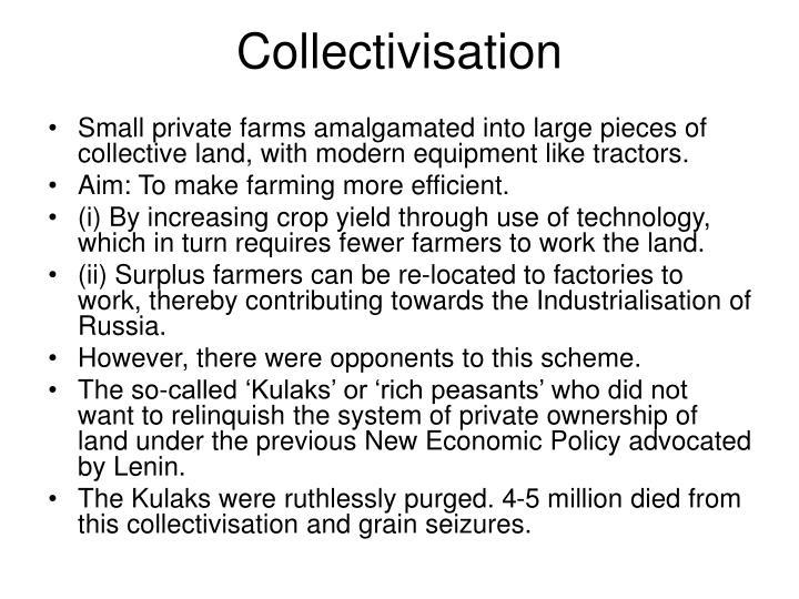 Collectivisation