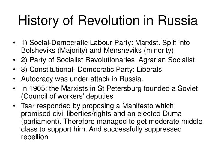 History of Revolution in Russia