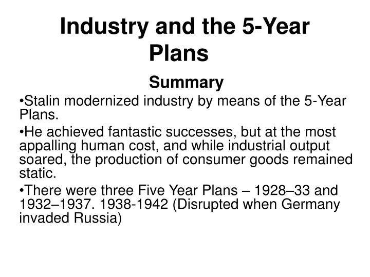Industry and the 5-Year Plans