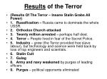 results of the terror