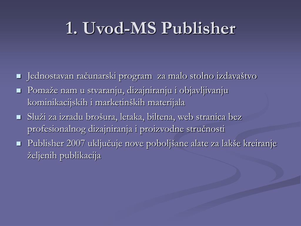 1. Uvod-MS Publisher