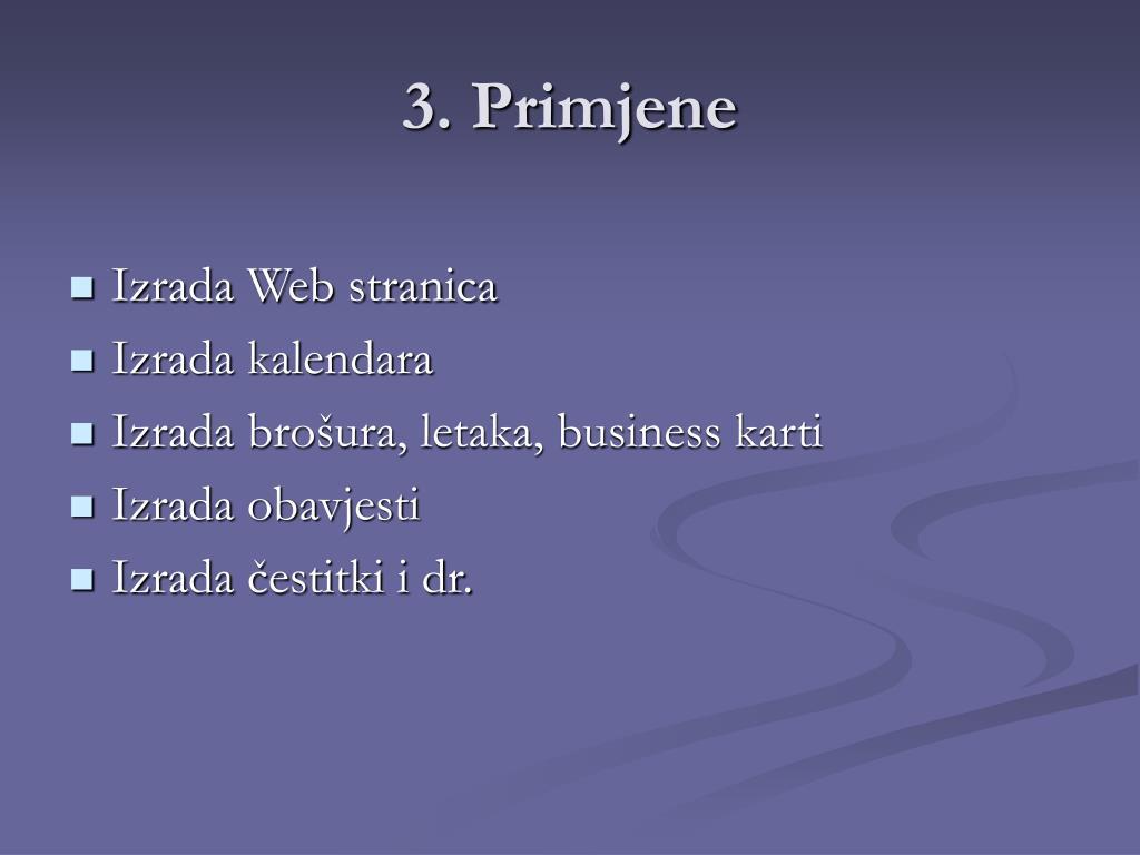 3. Primjene