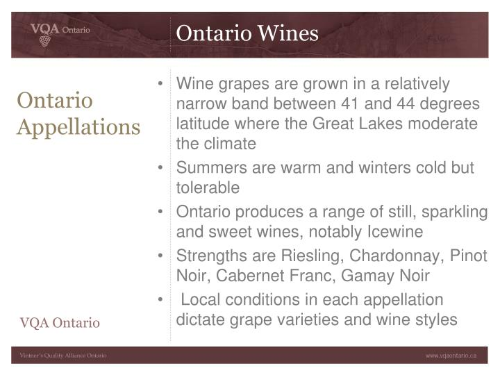 Ontario Appellations
