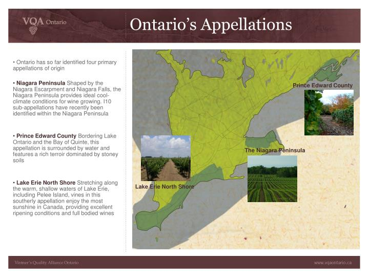 Ontario's Appellations