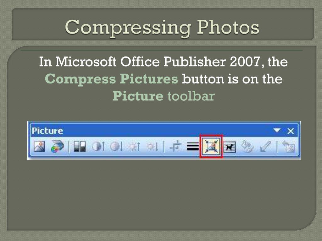 Compressing Photos
