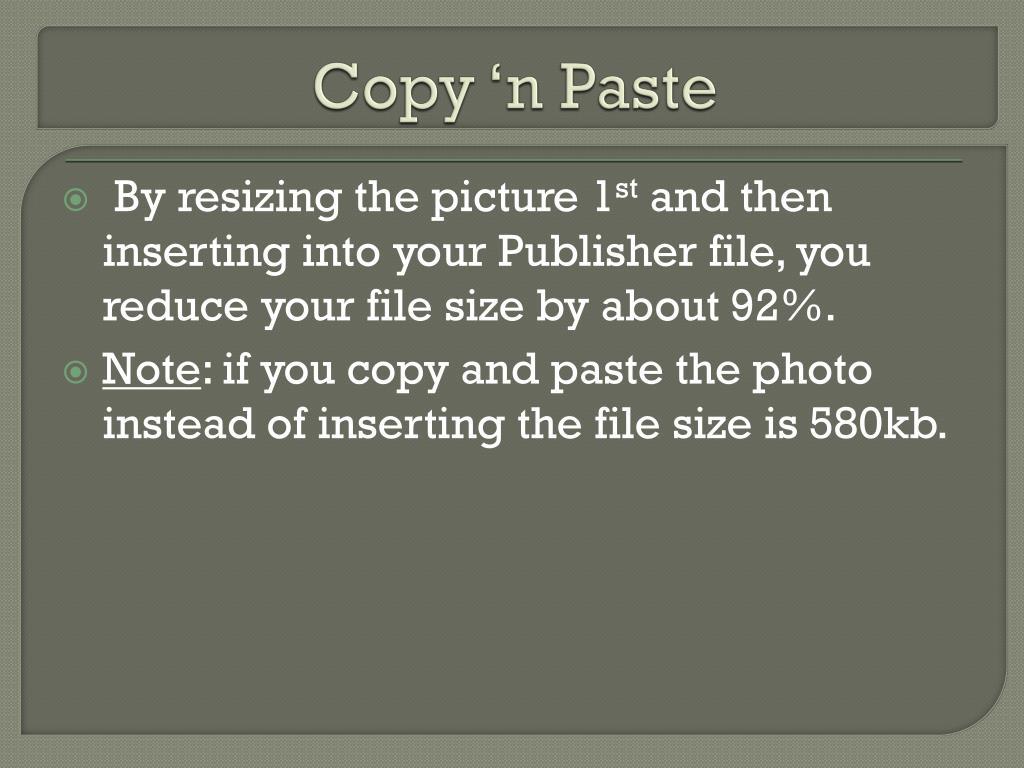 Copy 'n Paste