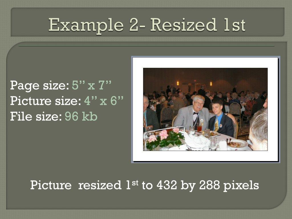 Example 2- Resized 1st