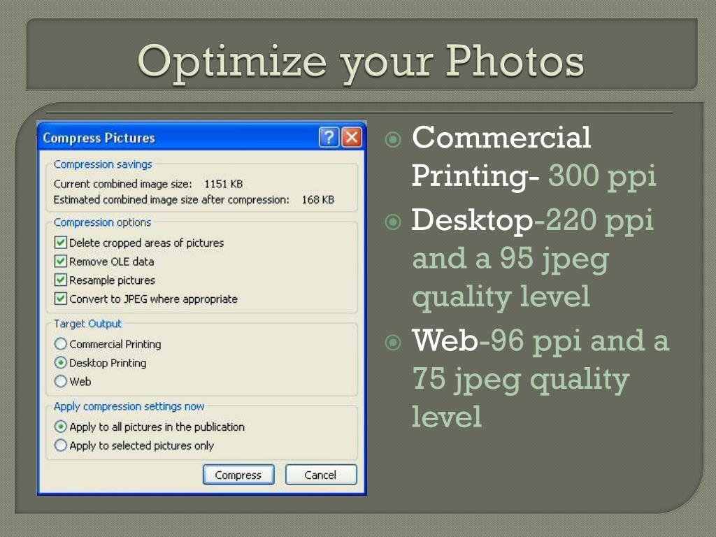 Optimize your Photos
