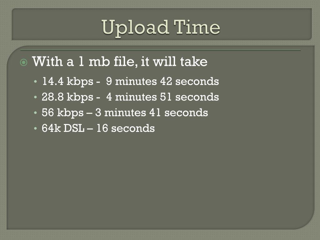 Upload Time
