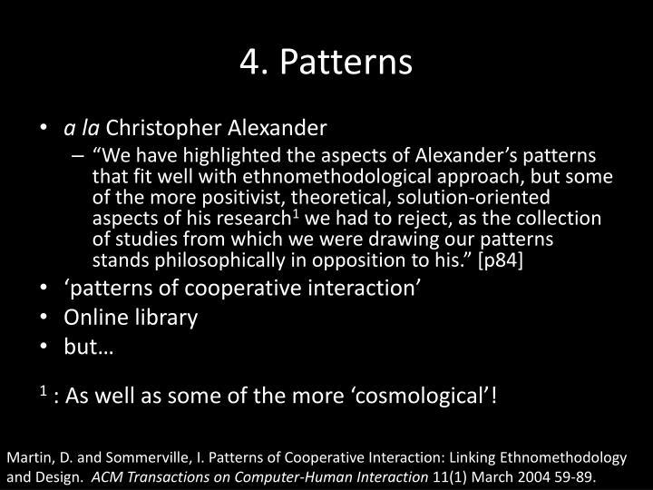 4. Patterns