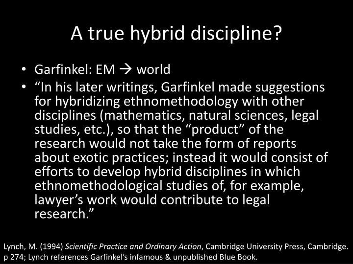 A true hybrid discipline?
