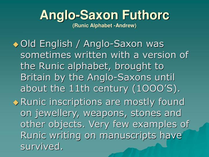 Anglo-Saxon Futhorc