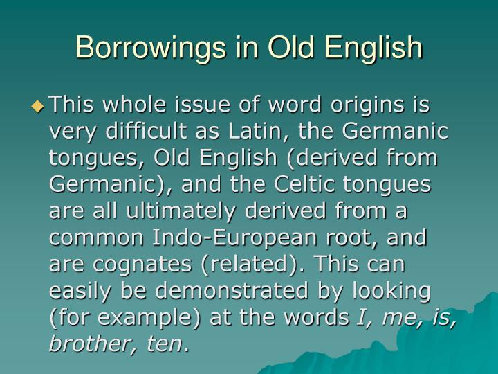 Borrowings in Old English