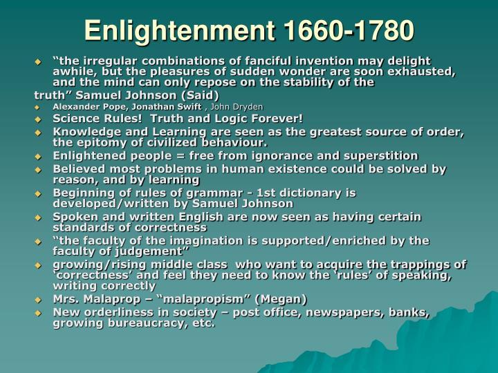 Enlightenment1660-1780