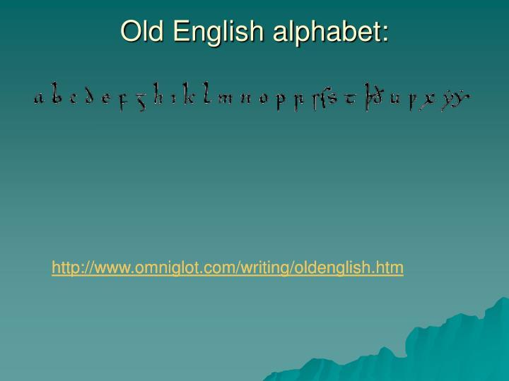 Old English alphabet: